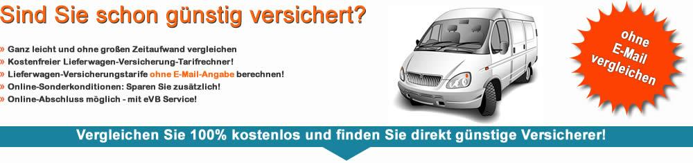 Lieferwagenversicherung Vergleich